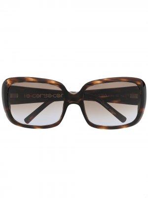Массивные солнцезащитные очки черепаховой расцветки 10 CORSO COMO. Цвет: коричневый