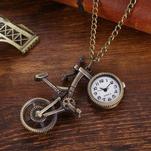 Карманные кварцевые часы с подвеской велосипеда SHEIN