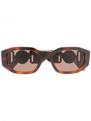 Солнцезащитные очки Hexad Signature Versace Eyewear. Цвет: коричневый