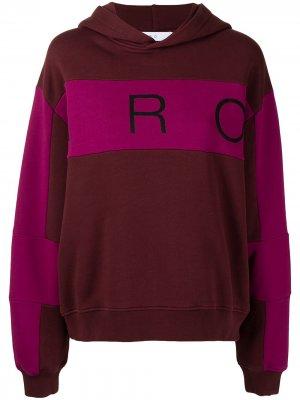 Logo-print panelled hoodie IRO. Цвет: разноцветный