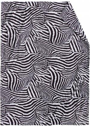 Плед с принтом зебра bonprix. Цвет: белый