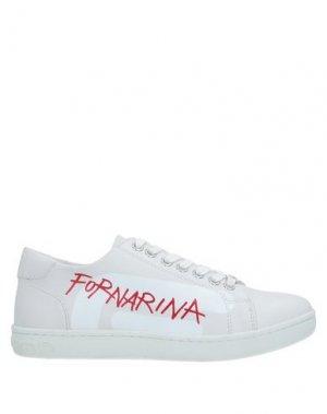 Низкие кеды и кроссовки FORNARINA. Цвет: белый