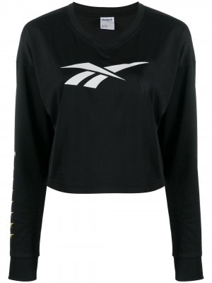 Джемпер с логотипом Reebok. Цвет: черный