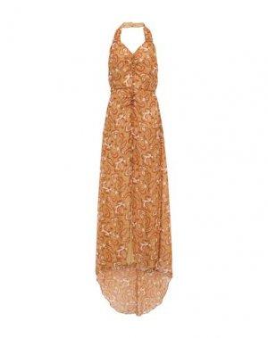 Длинное платье ANNA SUI. Цвет: верблюжий