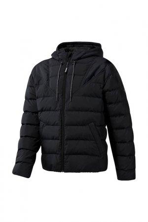 Куртка CL DOWN MID JACKET Reebok. Цвет: черный
