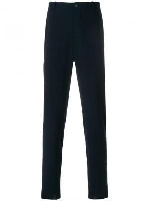 Классические брюки Giorgio Armani. Цвет: синий