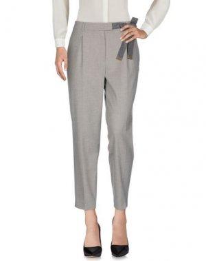 Повседневные брюки ACCUÀ by PSR. Цвет: светло-серый