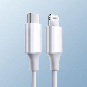 Однотонный кабель для передачи данных iPhone 1шт SHEIN. Цвет: белый