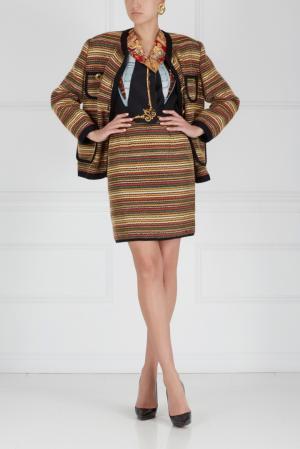 Костюм (80-е) Yves Saint Laurent Vintage. Цвет: multicolor
