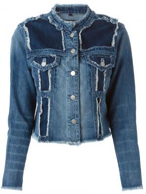Джинсовая куртка Toni J Brand. Цвет: синий