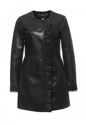 Куртка кожаная Twin-Set Simona Barbieri TW005EWOWJ76. Цвет: черный