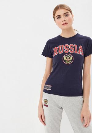 Футболка спортивная Atributika & Club™ Россия. Цвет: синий