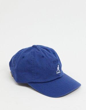Синяя выбеленная бейсболка -Голубой Kangol