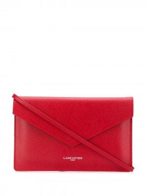 Клатч с логотипом Lancaster. Цвет: красный
