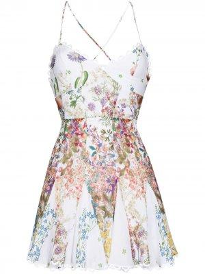 Платье мини Marlene с цветочным принтом Charo Ruiz Ibiza. Цвет: белый