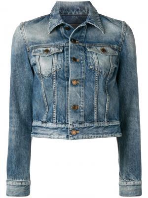 Джинсовая куртка с логотипом Saint Laurent