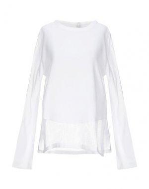 Блузка EDUN. Цвет: белый