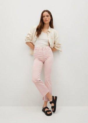Укороченные джинсы flare - Sienna Mango. Цвет: пастельно-розовый