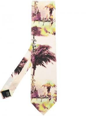 Галстук с пальмовым принтом Jean Paul Gaultier Pre-Owned. Цвет: разноцветный