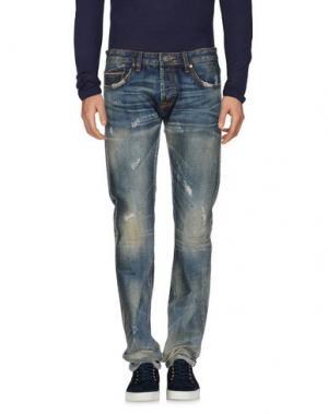 Джинсовые брюки CULT OF INDIVIDUALITY. Цвет: синий