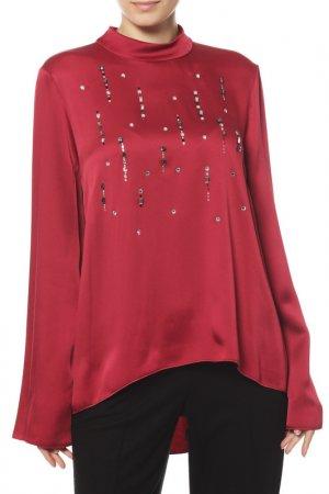 Блуза VDP. Цвет: бордовый