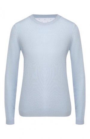 Пуловер из смеси шерсти и шелка REDVALENTINO. Цвет: голубой