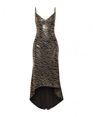 Длинное платье BLACK HALO EVE by LAUREL BERMAN. Цвет: бежевый