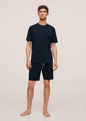 Комплект пижама из органического хлопка - Begur Mango. Цвет: темно-синий