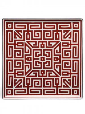 Labirinto square plate (30cm) Richard Ginori. Цвет: красный