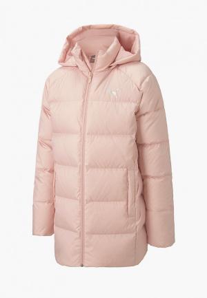 Пуховик PUMA Long Down Jacket G. Цвет: розовый