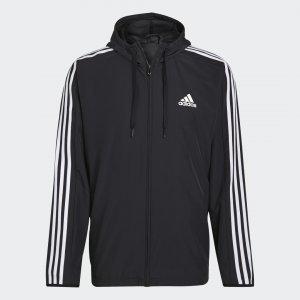Ветровка Essentials Woven 3-Stripes Sportswear adidas. Цвет: черный