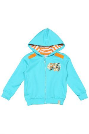 Куртка CHERUBINO. Цвет: голубой