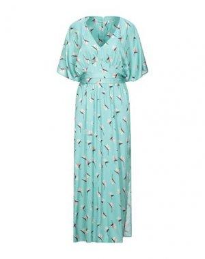 Длинное платье DRY LAKE.. Цвет: бирюзовый
