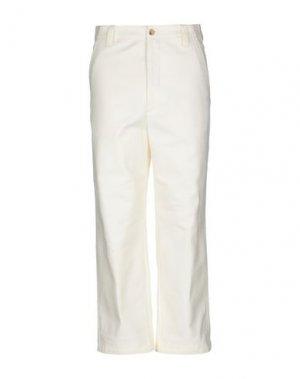 Повседневные брюки ACNE STUDIOS. Цвет: слоновая кость
