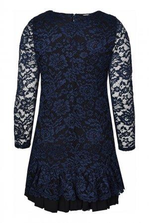 Платье-мини с кружевной отделкой Anna Rita N. Цвет: синий