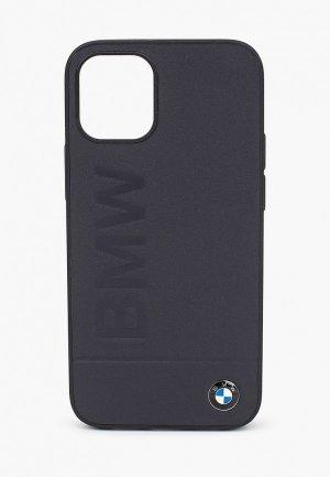 Чехол для iPhone BMW 12 mini (5.4), Signature Genuine leather Logo imprint Navy. Цвет: черный