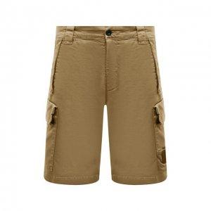 Хлопковые шорты C.P. Company. Цвет: бежевый