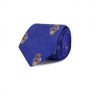 Шелковый галстук Polo Ralph Lauren. Цвет: синий