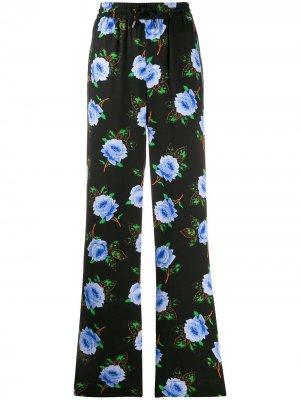 Floral print high waist trousers Essentiel Antwerp. Цвет: черный