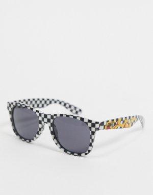 Солнцезащитные очки с оправой в черно-белую клетку Spicoli 4-Черный Vans