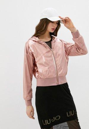 Ветровка Liu Jo Sport. Цвет: розовый