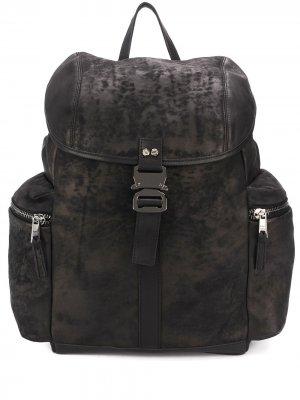 Side-pockets buckle backpack Giorgio Brato. Цвет: черный