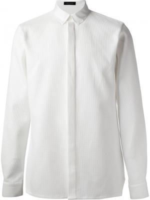 Классическая рубашка Kris Van Assche. Цвет: белый