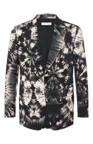 Шерстяной пиджак Dries Van Noten. Цвет: чёрный