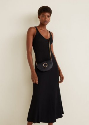 Поясная сумка с наплечным ремнем и цепочкой - Moira Mango. Цвет: черный