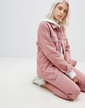 Джинсовая куртка Weekday. Цвет: розовый