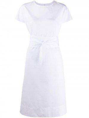 Платье с завязками на талии Aspesi. Цвет: белый