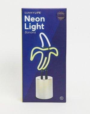 Неоновый светильник в форме банана с разъемом USB -Желтый Sunnylife