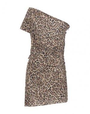 Короткое платье CYCLE. Цвет: светло-коричневый