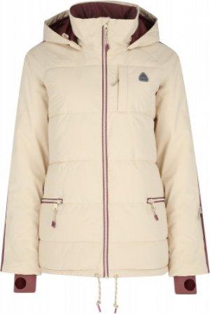Куртка утепленная женская Keelan, размер 48-50 Burton. Цвет: бежевый